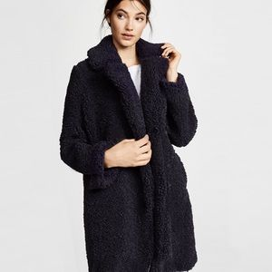 Longline  TEDDY Coat Duster Jacket Trench Sherpa